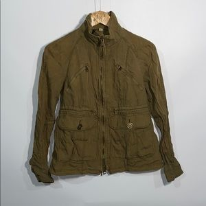 Burberry Brit army green jacket
